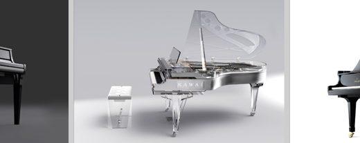[展示終了]浜松駅YOSHIKIモデルのクリスタルピアノ 改札を入った新幹線コンコースにて