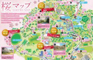 つま恋リゾート彩の郷園内マップ桜